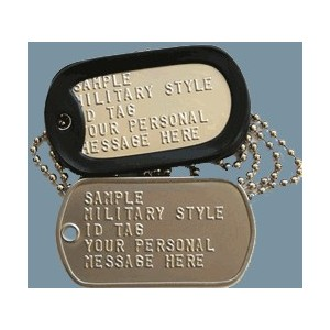 GRABACION PLACAS USA DOG TAG, Metal Mate