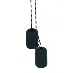 GRABACION PLACAS USA DOG TAG, color negro