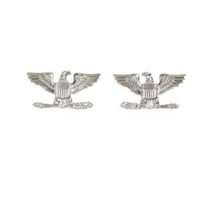 Insignia Coronel USA, plata