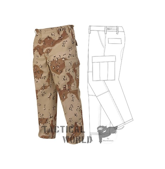 Pantalon Desert 6 colores, Talla XS