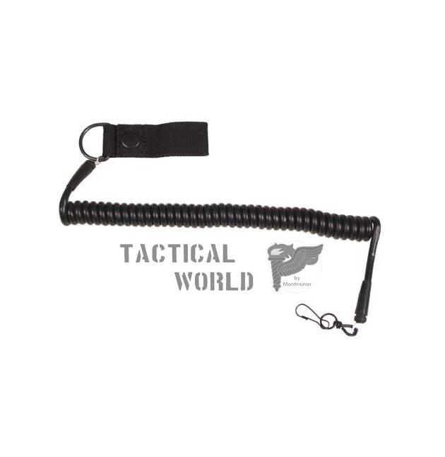 Cordon elastico pistola Landyard, negro