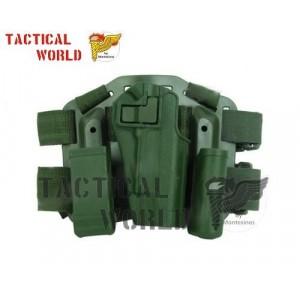 Set Funda tactica muslo Colt 1911, verde OD