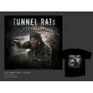 Camiseta MilPictures  TUNNEL RATS, Color negro, Talla S