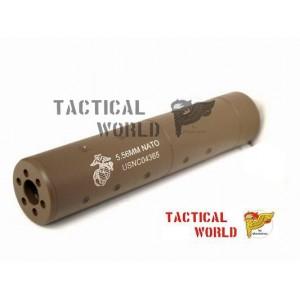 Silenciador corto M4 USMC, Tan