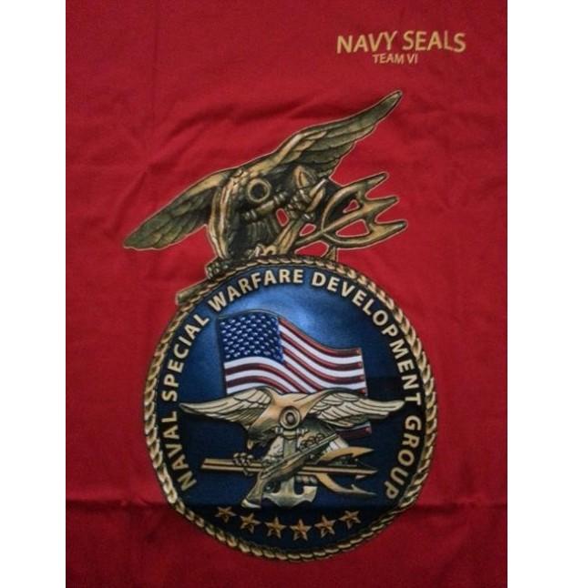 Camiseta US NAVY SEAL VI, color rojo