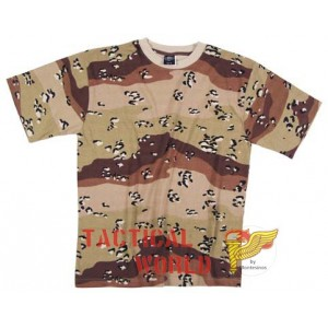 Camiseta Desert 6 colores, Talla S