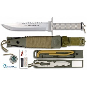 CUCHILLO SUPERVIVENCIA COMBAT KING I, Aluminio