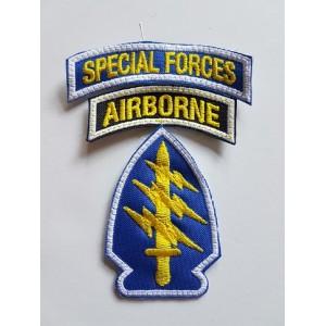 PARCHE SPECIAL FORCES / AIRBORNE COLOR OG 107