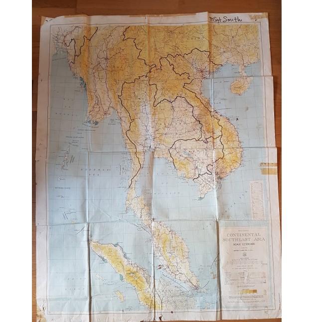MAPA ORIGINAL US ARMY EPOCA VIETNAM