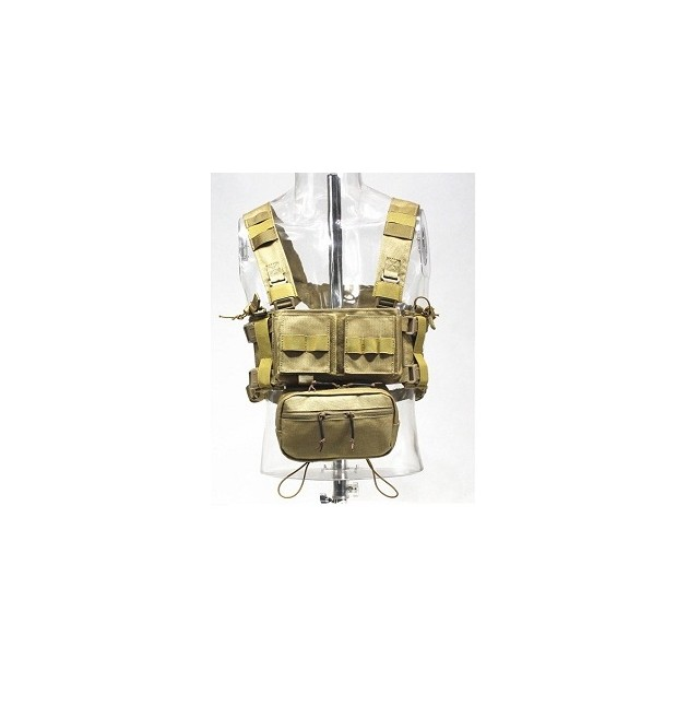 CHALECO TACTICO CONQUER CHEST RIG TAN