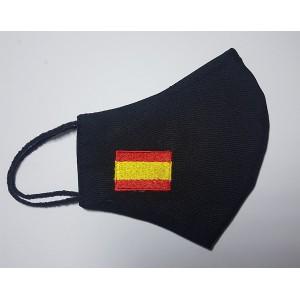 MASCARILLA BANDERA ESPAÑA, NEGRO