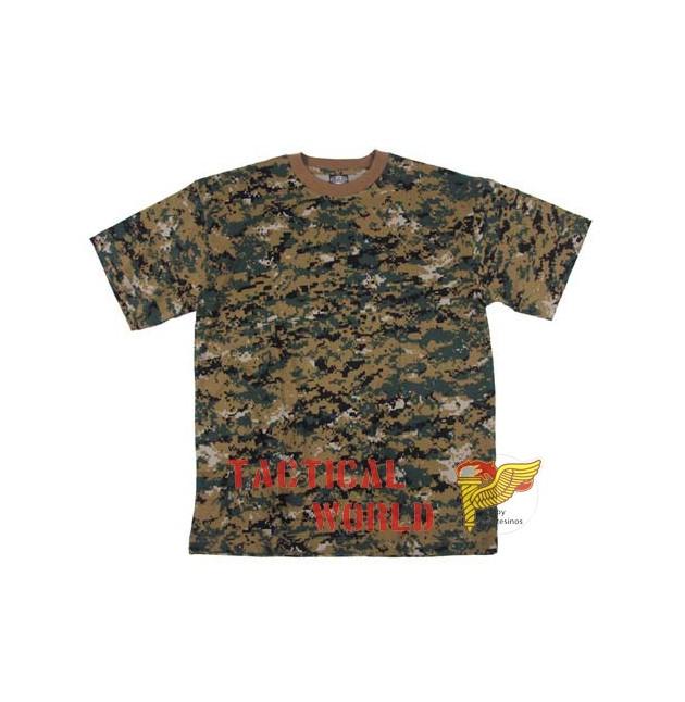 Camiseta digital Woodland, Talla S
